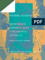 Hadot Pierre - Ejercicios Espirituales Y Filosofia Antigua