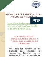 Nuevo Plan de Estudios Derecho PUCP 2015-1
