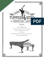 Tupper & Reed Opening Menu