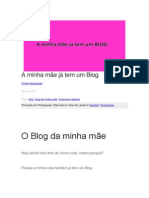 AMinha Mãe Já Tem Um Blog
