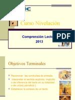 COMPRENSION LECTORA NIVELACION