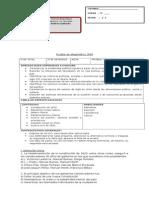 Prueba de Diagnóstico 3NM 2014