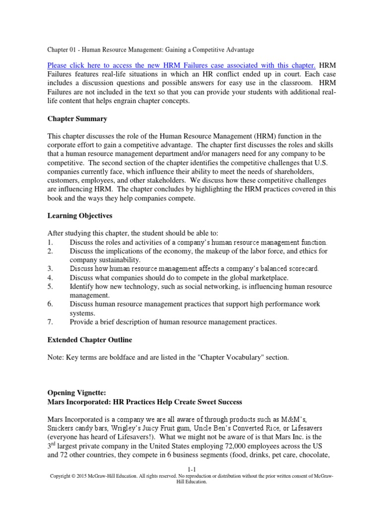 hrm summary chapter 2 Study 25 chapter 2: trends in human resource management flashcards from jenny g on studyblue.