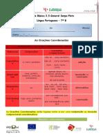 A Coordenação - Ficha Informativa e de Trabalho