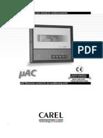 Carel MAC User Manual Eng