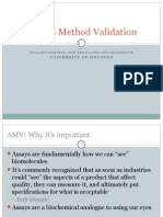 Analytical Method Validation
