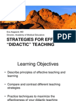 Didactic Teaching