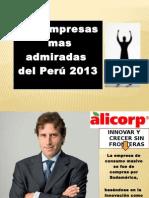Las Empresas Mas Admiradas Del Perú 2013