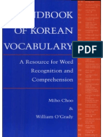 Cho-handbook of Korean Vocabulary 1996