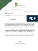 Memorando Circular 003_infoprmes Sobre o Concurso Priofessor Substituto