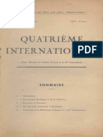 Quatrième Internationale I, Nº 1, 1942