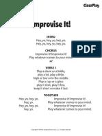 improvise it