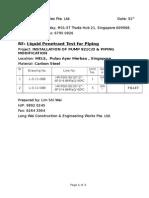 Liquid Penetrant Request Mels Carbon Steel(L-S-11-088)