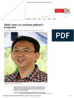 Ahok Vows to Continue Jokowi's Programs_March 19, 2014_The Jakarta Post