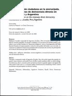 Participación Ciudadana en Ecuador, Perú y Argentina