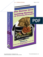 The Soccer Live Betting System