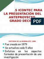Normas Icontec Para La Presentación Del Anteproyecto Grado