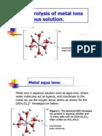 Metal Hydrolysis