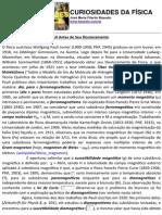 PRIMEIROS TRABALHOS DE WOLGANG PAULI ANTES DO DOUTORADO