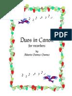 Duos Canon- Recorder