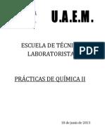 Prácticas de Química II