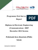 Report Exit Survey DIS 2012 DEP