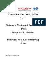 Report Exit Survey DIS 2012 DKM