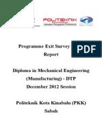 Report Exit Survey DIS 2012 DTP