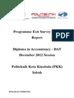 Report Exit Survey DIS 2012 DAT