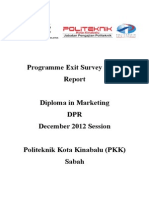 Report Exit Survey DPR DIS 2012