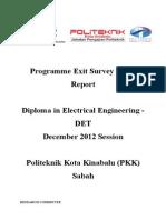 Report Exit Survey DIS 2012 DET