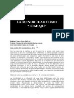 La Mendicidad Como Trabajo Humano Revista Digital Derecho