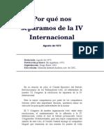 Por Qué Nos Separamos de La IV Internacional