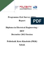 Programme Exit Survey (PES) DIS 2013 Session (DET) V2