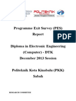 Programme Exit Survey (PES) DIS 2013 Session (DTK) V1