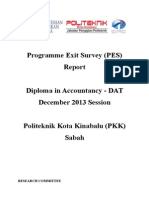 Programme Exit Survey (PES) DIS 2013 Session (DAT) V1