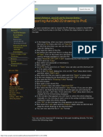 Importing AutoCAD 2D Drawing to ProE - Cadd4you.com