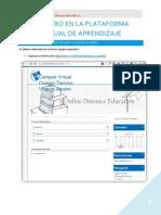 Registro en La Plataforma Virtual de Aprendizaje