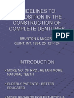 Guidelines to Lip Position in the Construction of Complete Dentures