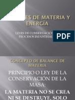 7.5 Balances de Materia y Energía Preliminares