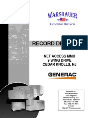 Record Drawings _ GENERAC pdf | Electric Power System