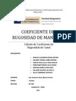 Coeficiente de Rugosidad (2)