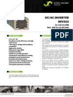 Data Sheet Inverter INV222 110VDC