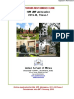 ISM Dhanbad JRF 2015 Information Brochure
