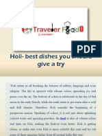 Holi- Best Dishes You Should Give a Try