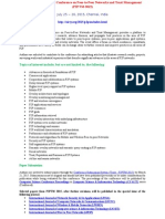 The Fifth International Conference on Peer-to-Peer Networks and Trust Management (P2PTM-2015)