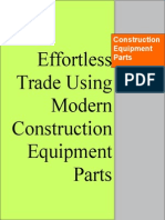 Effortless Trade Using Modern Construction Equipment Parts