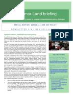 Myanmar Land Briefing