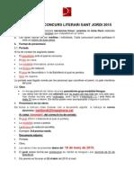 Bases concurs literari Sant Jordi 2015