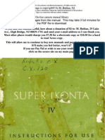 Zeiss Ikon Super Ikonta IV USER MANUAL